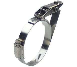 65-90mm Diameter Hi-Torque Stainless Steel Quick Release Bandclamp with Safety Catch